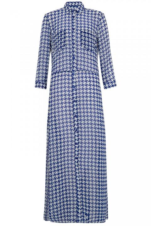 Primark-Houndstooth-print-maxi-shirt-dress-15