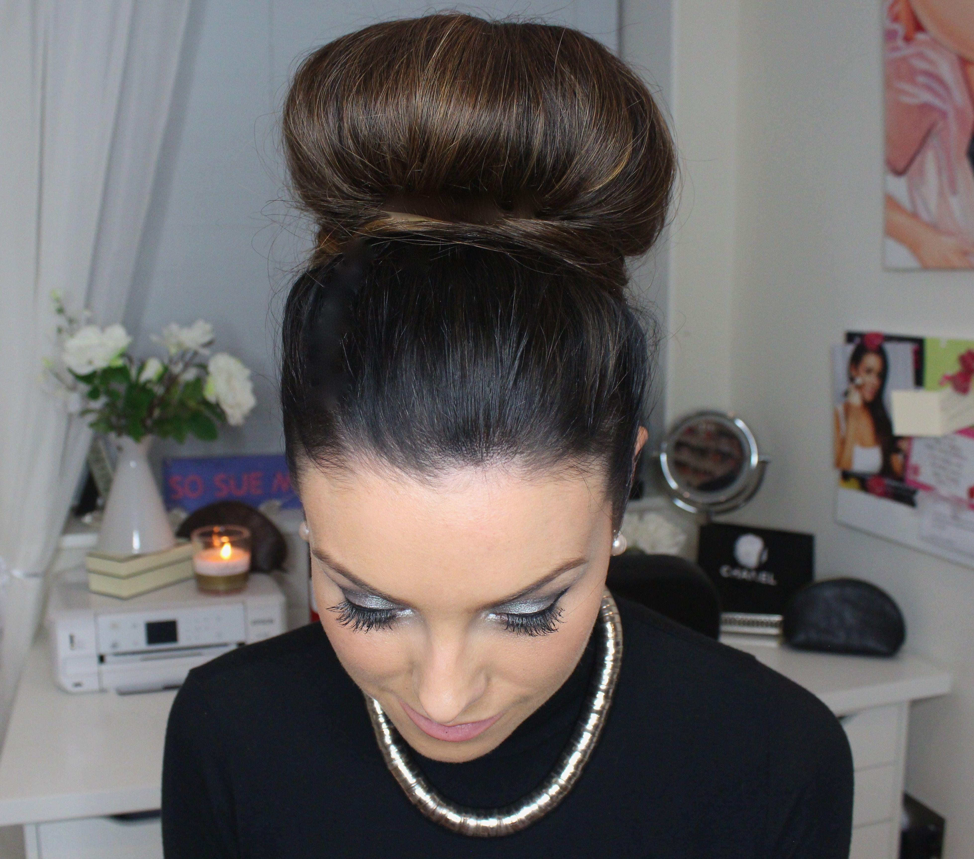 Watch How To 5 Minute Sleek Bun Hair Tutorial So Sue Me