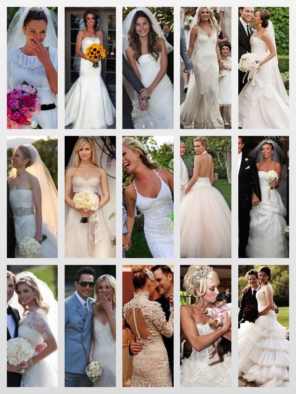 Celebrity Wedding Inspiration Top 10 Dresses