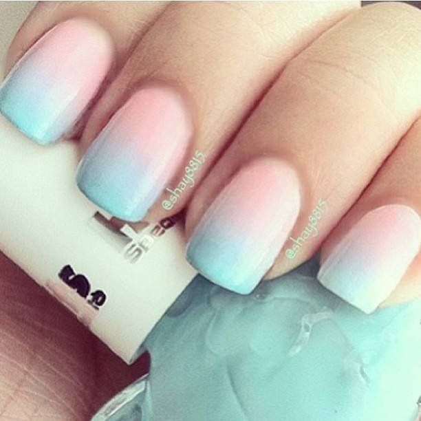cotton candy ombre nails nail designs picture | So Sue Me