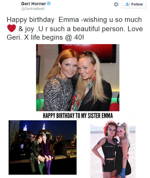 victoria beckham marks emma bunton s birthday with double