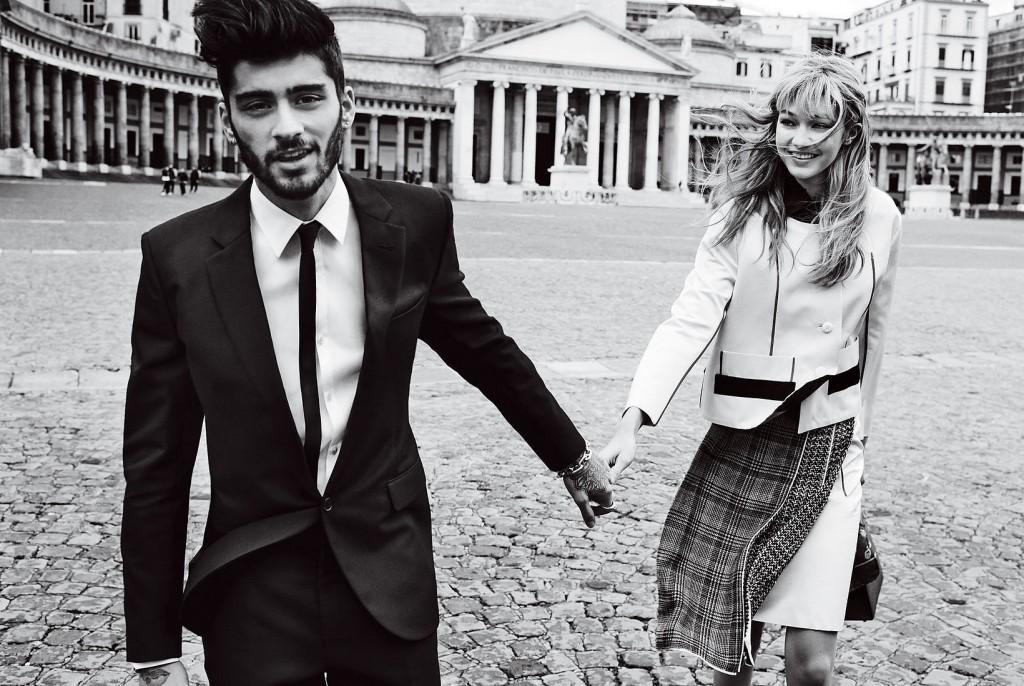 Gigi Hadid and Zayn Malik for Vogue