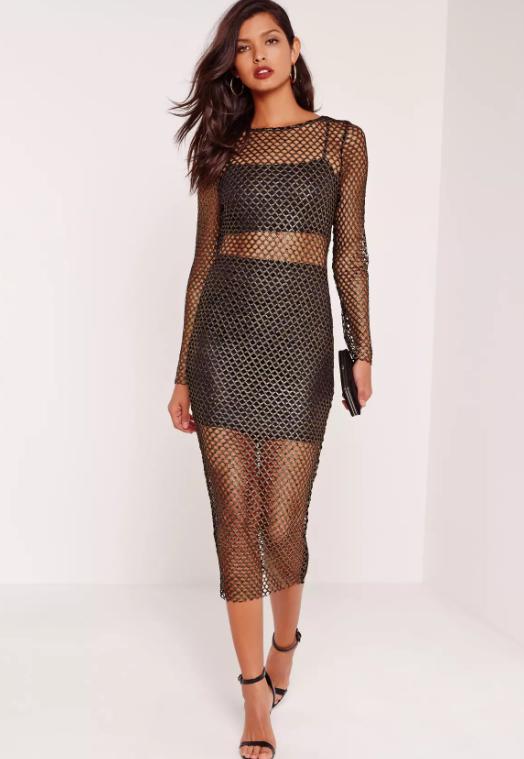 Missguided fishnet dress