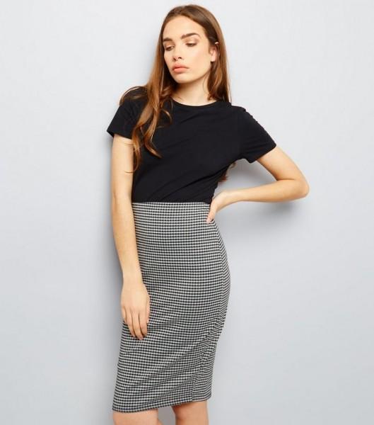 black-gingham-pencil-skirt-