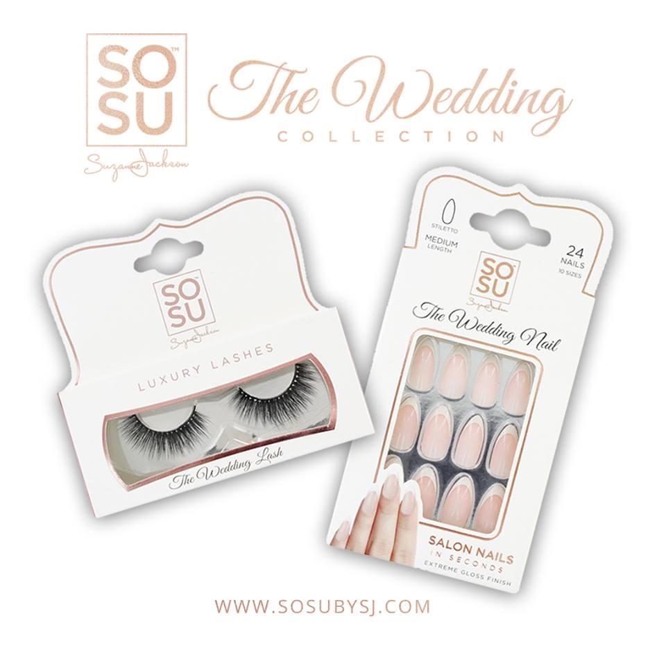 sosubysj wedding lashes and wedding nails