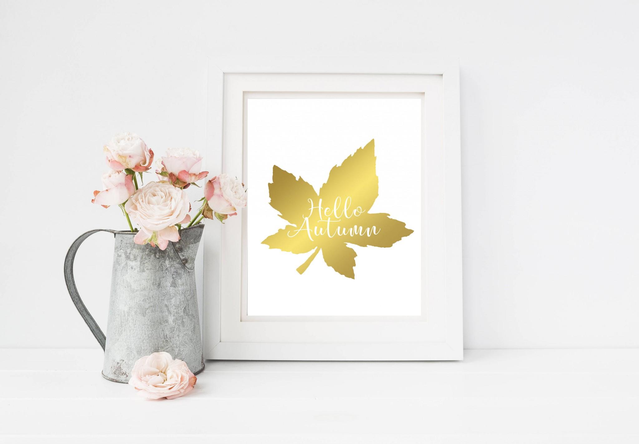candle autumn print